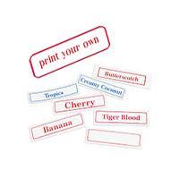 mylar printable labels